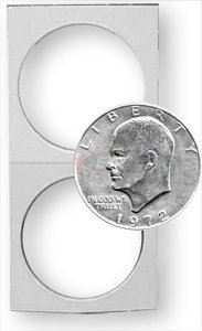 500 Count 2X2 Premium Cardboard Coin Holders - Penny, Nickel, Dime, Quarter and Half Dollar