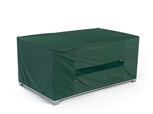 Covermates - Outdoor Patio Rectangular Dining Table Cover 50W x 30D x 25H - Classic Collection - 2 YR Warranty - Year Around Protection - Green