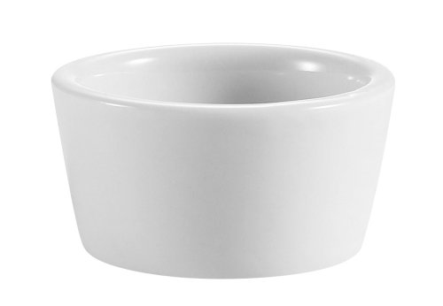 CAC China 2-Ounce Super White Porcelain Round Ramekin, 2-1/4 x 2-1/4