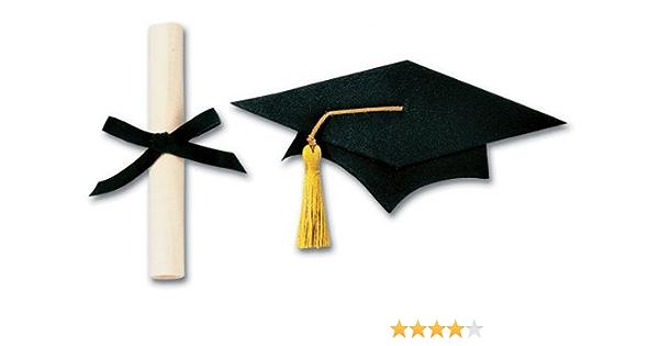 Jolee/'s Boutique Pegatinas-Graduación-Negro Tapa /& Vestido Diploma