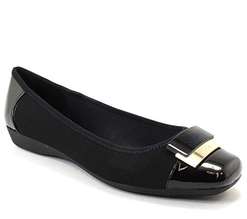 Anne Klein UNA Black Multi Fabric - Mules Klein Anne