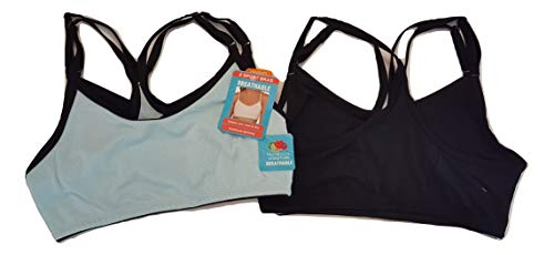 Fruit of the Loom (2 Pack) Sports Bras For Women, Racerback Bra, Strap Sports Bra, Wirefree Bra, Workout Clothes For Women, Womens ()