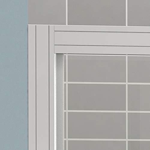 PIAMONTE CHROMO Mampara Frontal Tres Hojas, Correderas Apertura por ambos lados, Medidas 104-110x185 cm, Cristal 4 mm, Cromo-Serigrafía, Modular Rectangular Perfil Aluminio Cromado: Amazon.es: Bricolaje y herramientas