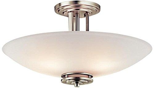 Kichler 3677NI Semi-Flush 4-Light, Brushed Nickel