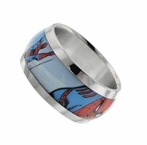 Officially Licensed Spider - Spider-man Flying Graphic Size 12 Stainless Ring Officially Licensed by MARVEL + Comic Con Exclusive