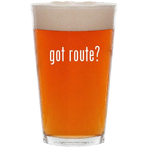 got route? - 16oz All Purpose Pint Beer Glass