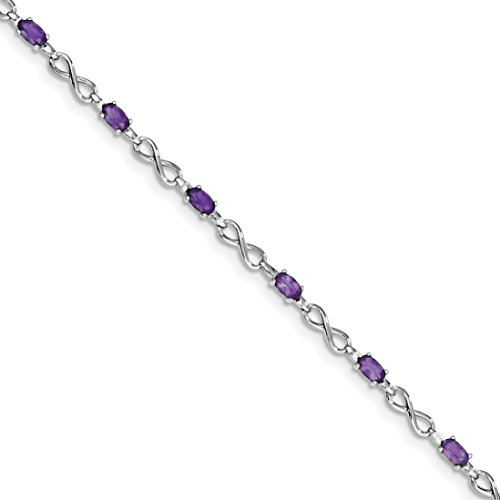 ICE CARATS 925 Sterling Silver Purple Amethyst Bracelet 7.50 Inch Infinity Gemstone Fine Jewelry Gift Set For Women Heart by ICE CARATS (Image #1)