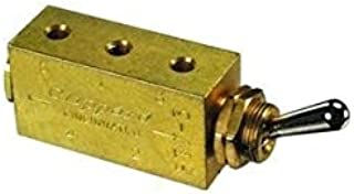product image for Clippard FTV-3 3-Way Toggle Valve, Enp Steel Toggle, 10-32, 10 SCFM at 100 PSIG