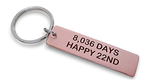 Copper Tag Keychain Engraved with
