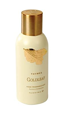 Thymes Home Fragrance Mist, Goldleaf, 3-Ounce Cans