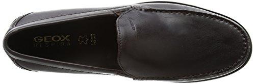 Geox U DAMON A U24W6A00043C9999 - Zapatos de cuero para hombre Marrón (Chocolate)