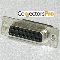 Pc Accessories - Connectors Pro DB15 Female D-Sub Crimp Type Connector, 10 Pcs PK (Pin Connector 15 Type)