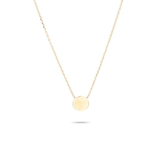 3D Disc Necklace in 14k Yellow Gold (Adina Reyter Necklace)