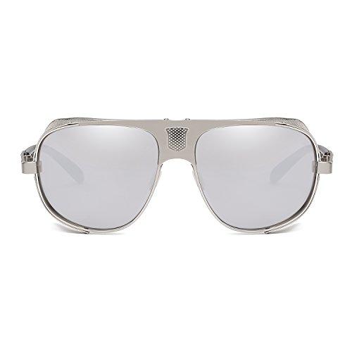 Steam Eyewear Sunglasses Punk Rave UV400 Goggles Vintage Protection Cool Goth Cyber Silver TdgqwExn