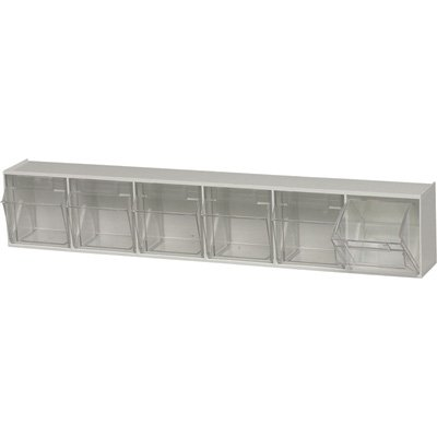 Quantum Storage Clear Tip Out Storage Bin - 3 5/8in. x 23 5/8in. x 4 1/2in. S... (Storage Out Bin Tip)