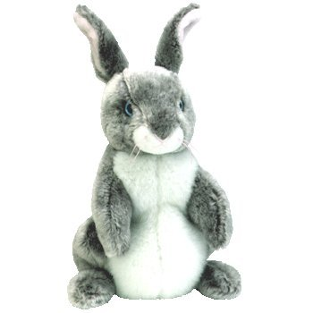 Hopper the Gray and White Easter Bunny Rabbit - Ty Beanie (Rabbit Beanie Baby)