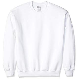 Gildan Men's Fleece Crewneck Sweatshirt, White, Large