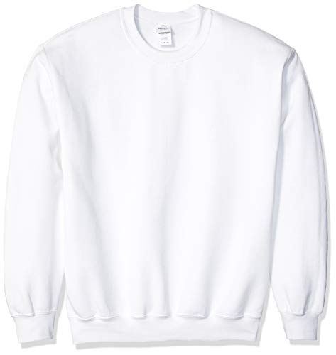Gildan Men's Fleece Crewneck Sweatshirt, White Medium ()