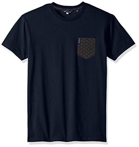 Ben Sherman Men's All Over Print Pocket Knit, Navy Large