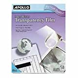 Apollo Transparency Film, Laser Printers, 8-1/2''x11'', Clear