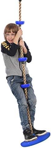 ジャングルジム・ブランコ スイング、子供キッズラウンドプラスチックローププレートスイングディスクモンキーシート取付屋外玩具ガーデンハンギング ぶらん Green