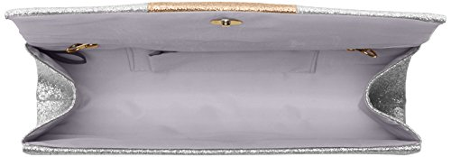SwankySwans - Jem Sparkle Color Block, Pochette da giorno Donna Argento (Silver)
