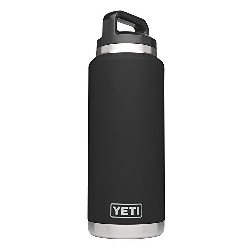 Yeti Rambler 36Oz Vacuum Insulated Stainless Steel Bottle With Cap  Stainless Steel   Black