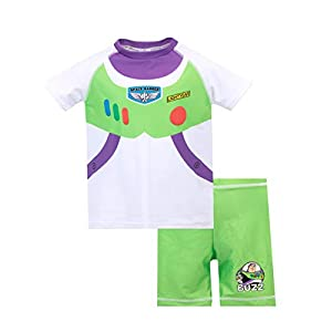 Disney Boys' Toy Story Two Piece Swim Set Buzz Lightyear