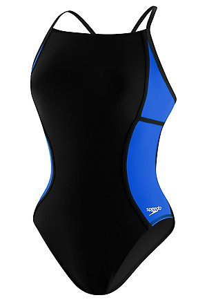 Speedo Sprint Splice PowerPLUS Thin Strap Female Black/Sapphire 34