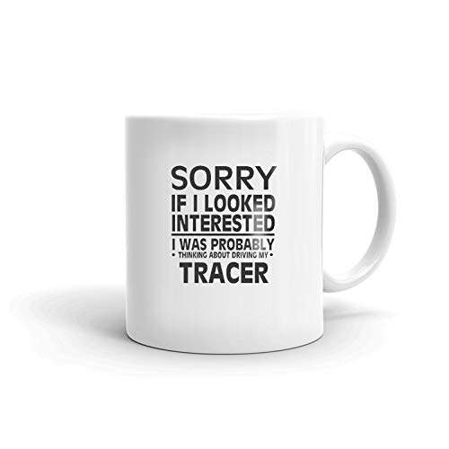 (Thinking about my MERCURY TRACER Driver Coffee Tea Ceramic Mug Office Work Cup Gift 15 oz)