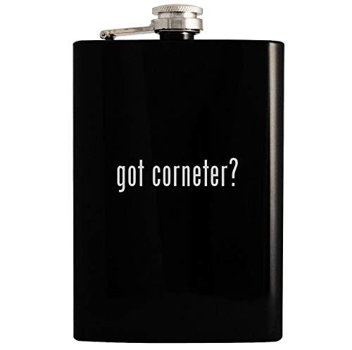 got corneter? - 8oz Hip Drinking Alcohol Flask, Black