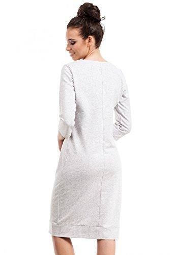 Midi Bewear Grise Avec Robe Zippées De Poches Cendre RFwBrSqFxE