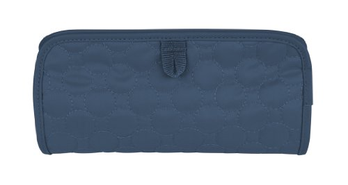 Travelon Jewelry and Cosmetic Clutch Quilted, Steel Blue Quilted, One Size