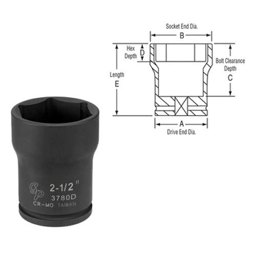 - Grey Pneumatic 3788D 3/4 Drive x 2-3/4 Deep Truck Pinion Locknut Socket