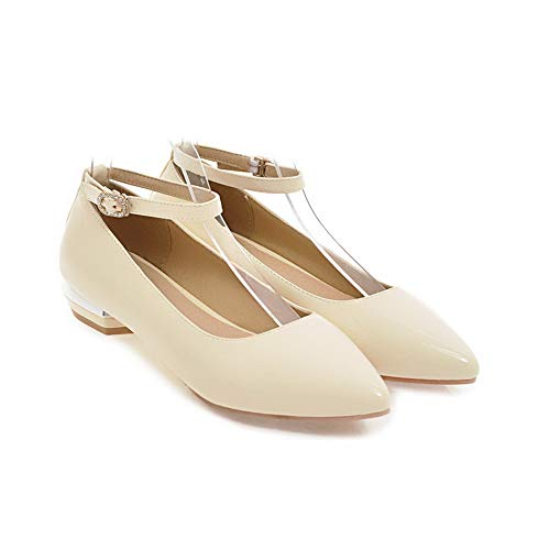 Beige Womens BalaMasa APL10689 Pumps Casual Buckle Dance Shoes Ballroom Urethane BzOznpqF