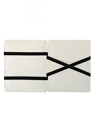 Carte Linea Pelle Edition Vip bianco Porta Portafoglio nero Flap In Double RxYYqAtwX