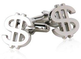 Dollar Sign Cufflinks Money Economics Cuff Links