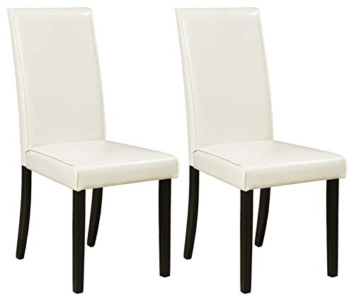 (Ashley Furniture Signature Design - Kimonte Dining Room Chair - High Back - Contemporary - Set of 2 - Ivory)