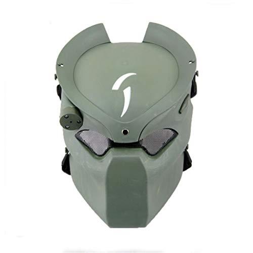 TSenTr Full Protective Face Mask for Halloween Masquerade Party Cosplay (Green)