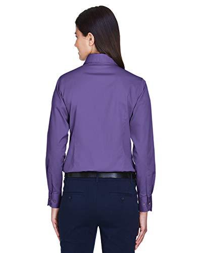 Twill Camicia Team Harriton Da Maniche A Donna Lunghe Stain Purple Release w0zza8gnq