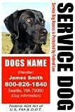 PERSONALIZE Dean & Tyler Service DOG ID Badge - 1 Dog's Custom ID Badge - Design#1- Vertical