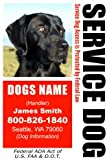 PERSONALIZE Dean and Tyler Service DOG ID Badge – 1 Dog's Custom ID Badge – Design#1- Vertical, My Pet Supplies