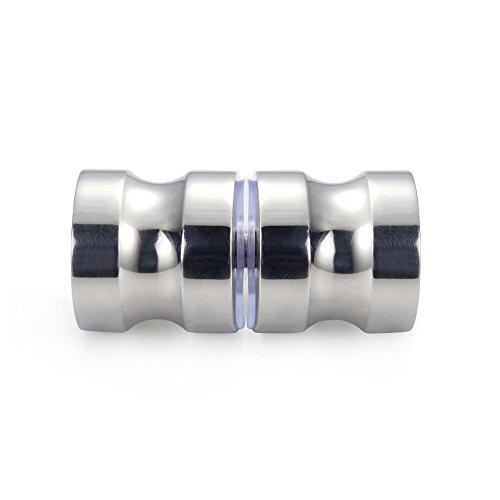 (Promotion! VRSS 304 Stainless Steel Solid Back-to-Back Shower Door Knob Glass Door Bathroom Handle Knob Polished )