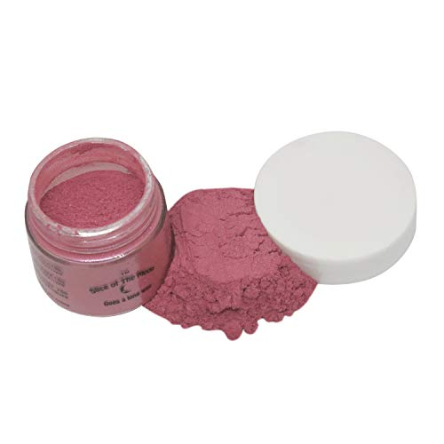 Slice of the Moon: Rose Red Mica Powder 28g, Natural Mineral Mica, Cosmetic Grade for Lipstick Lip Gloss Bath Bombs Epoxy Resin Face Blush Powder Eye Pencil Dye Pigments Candle Making