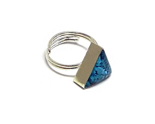 Inlay Ring (Turquoise) (Triangle Turquoise Inlay)