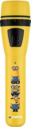 Varta 5mm LED Minions Taschenlampe für Kinder inkl. 2x High Energy AA Batterien Kindertaschenlampe Flashlight Leuchte Taschenleuchte Taschenlicht ideal für Kinderzimmer Kindergeburtstag Nachtlicht
