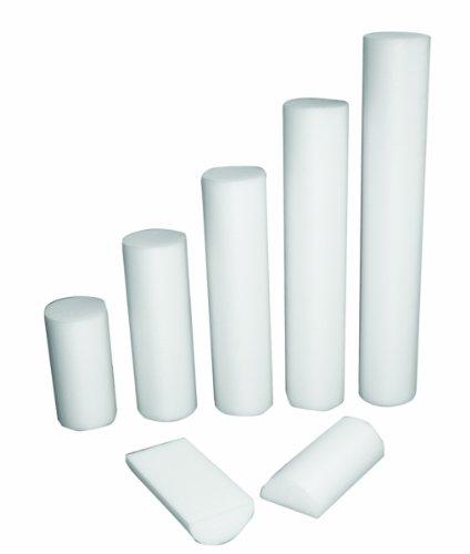 CanDo PE White Foam Roller, 4