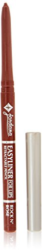 Retractable Lip Liner Pencil (Jordana Easyliner Retractable Pencil for Lips, Rock N Rose 0.009 oz)