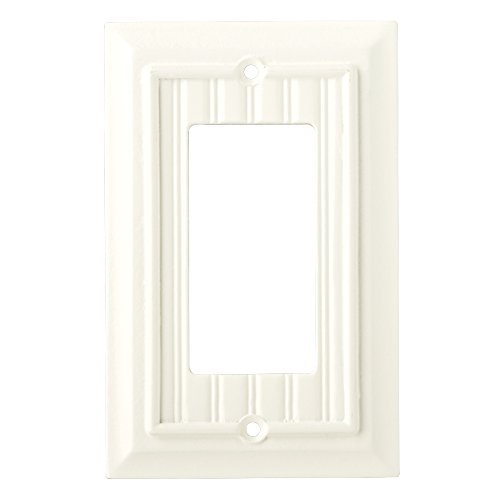 Brainerd 126357 Beadboard Single Decorator Wall Plate/Switch Plate/Cover - Bead Bulb Covers