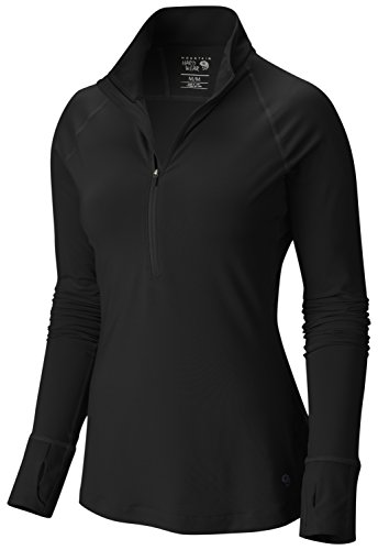 Mountain Hardwear Women's Butterlicious? Long Sleeve 1/2 Zip Top Black ()